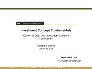 Investment Concept Fundamentals