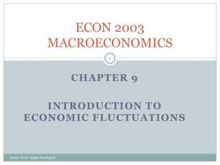 ECON 2003 MACROECONOMICS