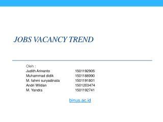 Jobs vacancy trend