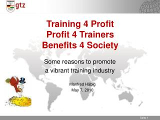 Training 4 Profit  Profit 4 Trainers Benefits 4 Society