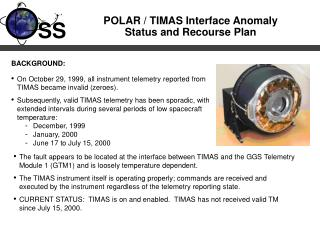 POLAR / TIMAS Interface Anomaly Status and Recourse Plan