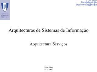 Arquitecturas de Sistemas de Informação