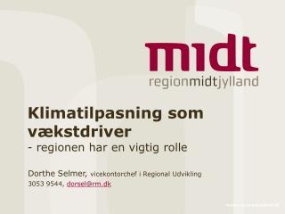 Klimatilpasning som vækstdriver  - regionen har en vigtig rolle
