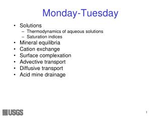 Monday-Tuesday
