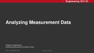 Analyzing Measurement Data