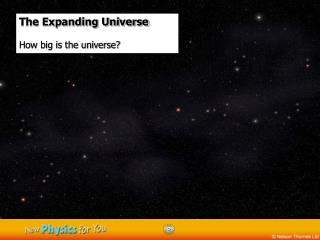 The Expanding Universe  How big is the universe?