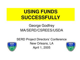 USING FUNDS SUCCESSFULLY