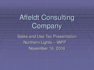 Affeldt Consulting Company