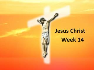Jesus Christ     Week 14