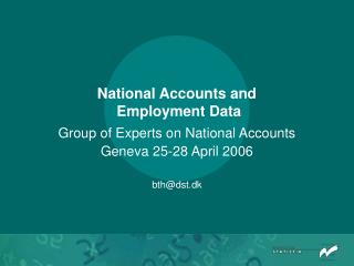 National Accounts and  Employment Data