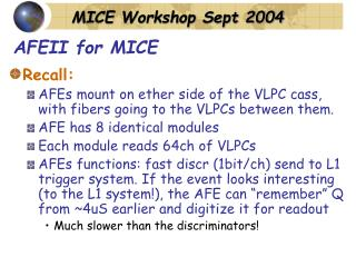 AFEII for MICE