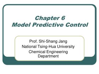 Chapter 6 Model Predictive Control