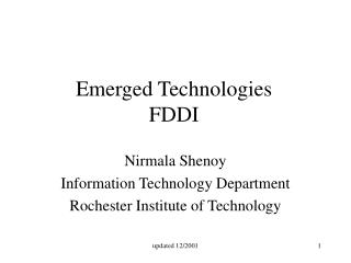 Emerged Technologies FDDI
