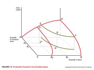Production Function  Multiple Variable Input