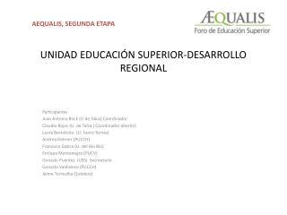 UNIDAD EDUCACIÓN SUPERIOR-DESARROLLO REGIONAL