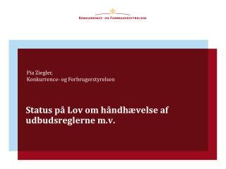 Status på Lov om håndhævelse af  udbudsreglerne m.v.