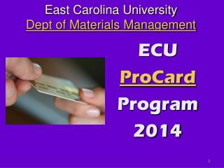 East Carolina University Dept of Materials Management