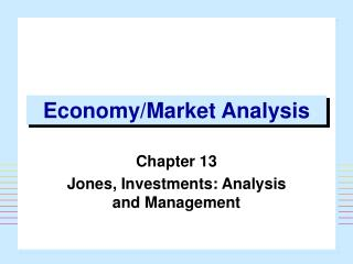 Economy/Market Analysis