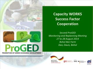 Capacity WORKS Success Factor Cooperation Second  ProGED Monitoring and  Replanning  Meeting