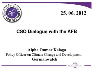 CSO Dialogue with the AFB