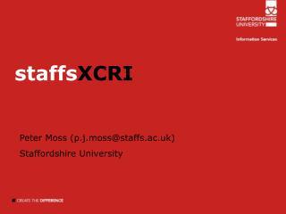 staffs XCRI