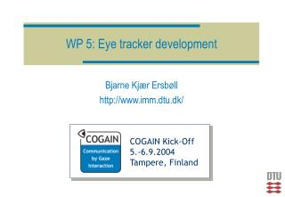 WP 5: Eye tracker development