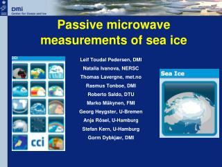 Passive  microwave measurements  of  sea ice