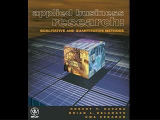 Chapter 13 Quantitative Data Analysis and Interpretation