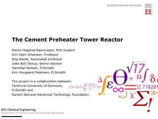 The Cement  Preheater  Tower Reactor