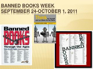 Banned Books Week September 24-October 1, 2011