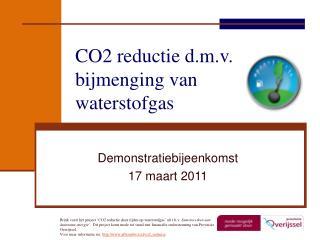 CO2 reductie d.m.v. bijmenging van waterstofgas