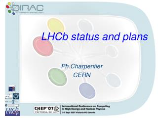 LHCb status and plans