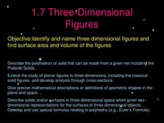 1.7 Three-Dimensional Figures