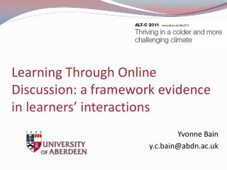 Learning Through Online Discussion: a framework evidence in learners' interactions