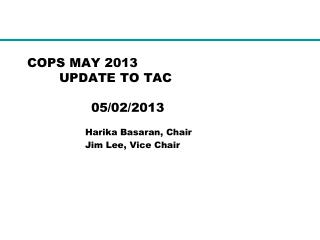 COPS MAY 2013  UPDATE TO TAC 05/02/2013