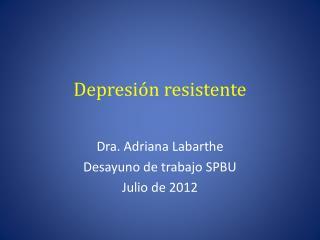 Depresión resistente