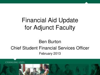 Financial Aid Update for Adjunct Faculty