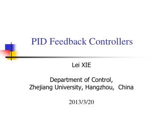 PID Feedback Controllers