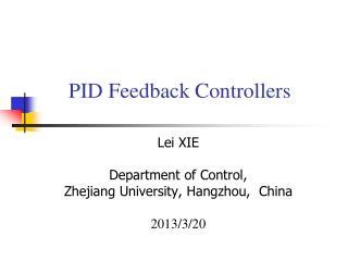 PID Feedback Controllers