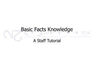 Basic Facts Knowledge