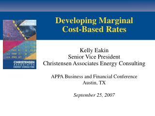 Developing Marginal Cost-Based Rates