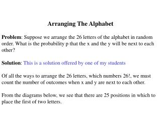 Arranging The Alphabet