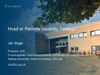 Hvad er Remote Usability Testing?