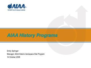 AIAA History Programs