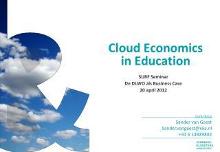 Cloud Economics  in Education