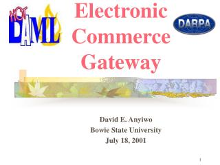Hot DAML:  Electronic Commerce Gateway