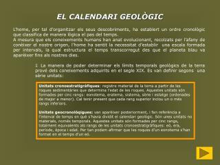 EL CALENDARI GEOLÒGIC