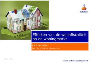 Effecten van de woonfiscaliteit op de woningmarkt