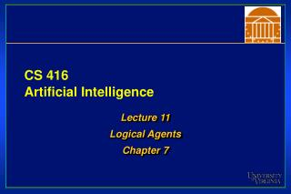CS 416 Artificial Intelligence