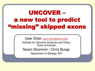 """UNCOVER – a new tool to predict """"missing"""" skipped exons"""